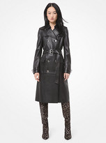 Michael Kors Leather Trench Coat