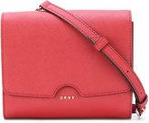 DKNY foldover crossbody bag - women - Leather - One Size