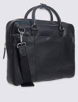 M&S Collection Leather Laptop Bag