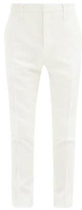 Aldo Maria Camillo - Front-pleated Slim-leg Wool Trousers - Cream