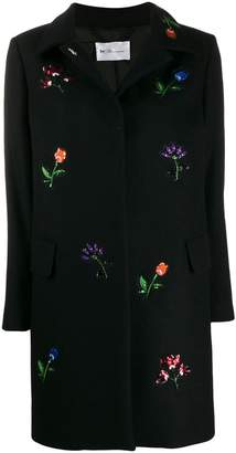 Blumarine Be Flower Embroidered Coat