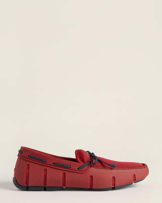 Swims Deep Red & Navy Braided Lace Loafers