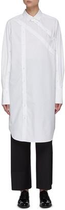 The Keiji Asymmetric plackets high-low shirt
