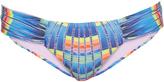 Mara Hoffman Flight Azure-print ruched-side bikini briefs
