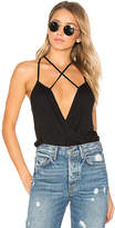 Blq Basiq Strappy Bodysuit in Black. - size 0 (XS/S) (also in 1(M/L))