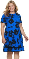 Plus Size Suite 7 Tiered Fit & Flare Dress