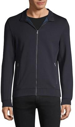 HUGO BOSS Full-Zip Cotton-Blend Jacket