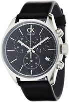Calvin Klein Men's 'Graceful' Swiss Quartz Stainless Steel and Leather Casual Watch, Color: (Model: K2H27102)