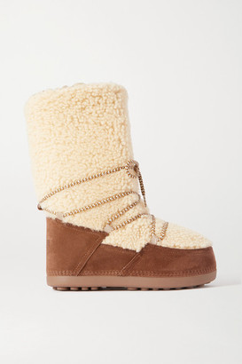 Bogner Cervinia Suede And Shearling Snow Boots - Brown