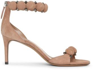 Alaia Bombe 70 dark nude suede sandals