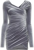 Alexandre Vauthier velvet ruched mini-dress