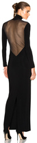 Norma Kamali Low Back Mesh Dress in Black.