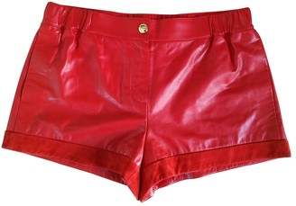 Louis Vuitton Red Leather Shorts