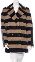 Max Mara Striped Cocoon Coat