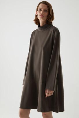 Cos Cotton High Neck Dress