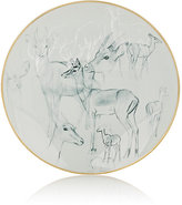 Hermes Carnets D'Equateur Impala-Illustrated Dessert Plate