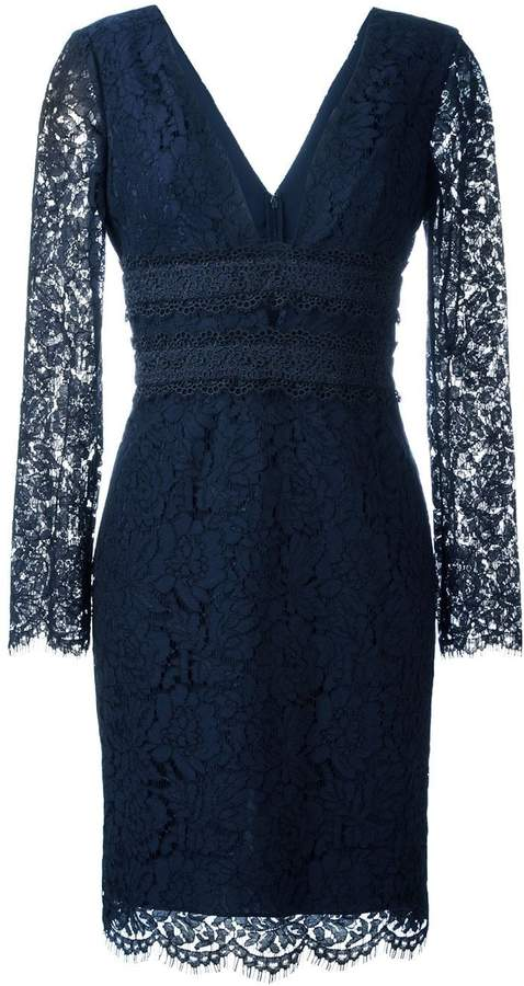 Diane von Furstenberg deep V-neck lace dress