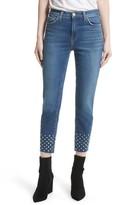 L'Agence Women's Anjelique Studded Ankle Skinny Jeans