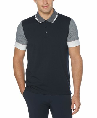 Perry Ellis Men's Color Block Short Sleeve Polo Shirt