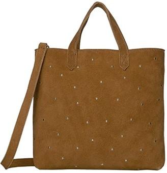 Madewell Small Inset Zip Crossbody (Equestrian Brown) Handbags