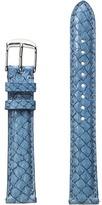 Michele 16mm Seamist Fish Skin Strap Blue Watches