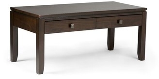 Alcott Hillâ® Solid Wood Coffee Table with Storage Alcott HillA Color: Coffee Stain