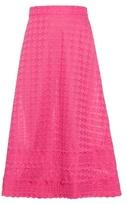 House of Holland Broderie-anglaise trim midi skirt