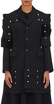 Comme des Garcons Women's Wool Armor-Inspired Three-Button Coat-BLACK