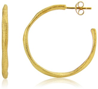 Auree Jewellery Olivera Medium Gold Vermeil Hoop Earrings