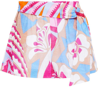 Emilio Pucci Embellished Printed Cotton Shorts