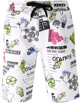 Kenzo Cartoon Flyers shorts - men - Cotton/Spandex/Elastane - S