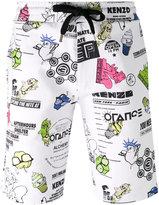 Kenzo Cartoon Flyers shorts - men - Cotton/Spandex/Elastane - XS