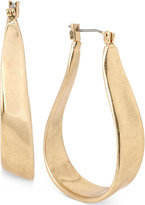 Kenneth Cole New York Gold-Tone Organic Hoop Earrings