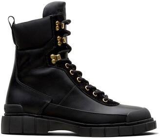 Car Shoe Lace-Up Combat Boots