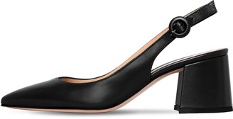 Gianvito Rossi 60mm Leather Sling Back Pumps