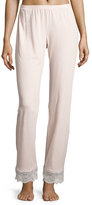 Cosabella Sonia Lace-Trim Lounge Pants, Pink Lilly