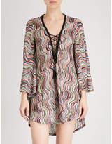 Missoni Metallic-weave woven beach dress