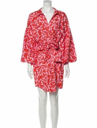 Veronica Beard Printed Knee-Length Dress w/ Tags Pink