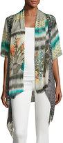 Alberto Makali Short-Sleeve Printed Cardigan, Multi