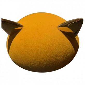 Maison Michel Yellow Wool Hats