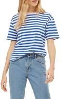 Topshop Women's Contrast Neck Stripe Tee