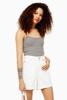 Topshop Womens Petite Grey Cami - Grey Marl
