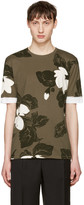3.1 Phillip Lim Green Floral T-Shirt
