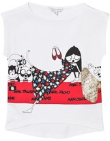 Little Marc Jacobs White Miss Marc on the Red Carpet Tee