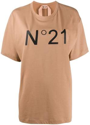 No.21 logo print oversized T-shirt