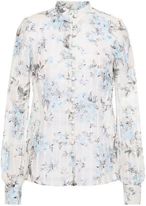 Goat Judy Cotton And Silk-blend Gauze Floral-print Shirt