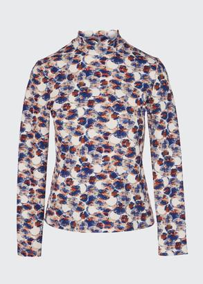 Marysia Swim Scalloped Floral Rashguard Swim Top