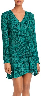 Parker Nelly Leopard Print Ruched Mini Dress - 100% Exclusive