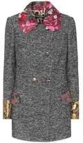 Dolce & Gabbana Jacquard-trimmed coat