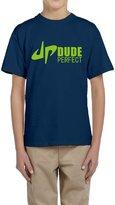 Hera-Boom Boys And Girls YouTube DP Dude Perfect Trick Shots Logo T-shirts Large Navy